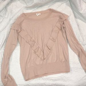 Light pink Gap ruffled sweater